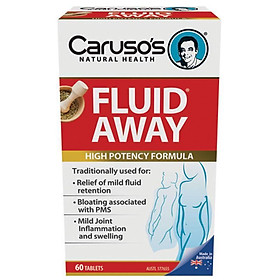 Carusos Natural Health Fluid Away 60 Tablets