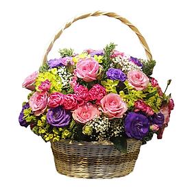 Giỏ Hoa Vườn Ngọc - 3277