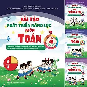 Combo 4 Cuốn Bài Tập Phát Triển Năng Lực Môn Toán và Tiếng Việt Lớp 4 Tập 1 + Tập 2