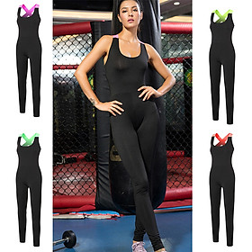 Women Yoga Jumpsuit Quick Dry Backless Stretchable Breathable One-Piece Sports Pants Workout Fitness Gym Sportswear-1