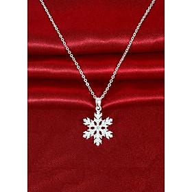 Dây chuyền bạc nữ mặt Bông tuyết 6 cánh PANMILA - Vòng cổ bạc nữ bông tuyết