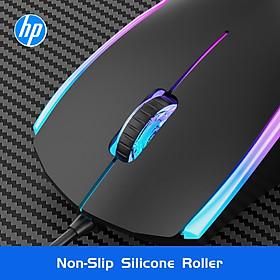Chuột có dây HP M160 Chuột chơi game quang hiệu suất cao với đèn LED 7 màu cầu vồng cho máy tính Máy tính xách tay Máy tính xách tay Máy tính văn phòng Máy tính gia đình