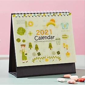 Lịch Để Bàn 2021 Bìa Trong In Hình Siêu Cute