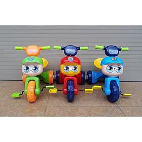 Xe đạp 3 bánh mũ (xe ba bánh có đèn + nhạc + gấp gọn)