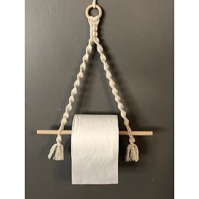 Dây treo giấy cuộn, dây treo giấy vệ sinh, dây tết Macramé . Mẫu 2