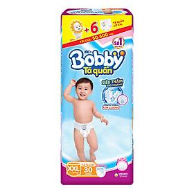 Tã Quần Bobby Gói Lớn XXL30 (30 Miếng) + 6 Miếng Cùng Size