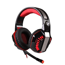 KOTION EACH G2000 black red computer esports headset headset vibration game eat chicken wired headset desktop with microphone notebook subwoofer with microphone