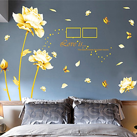 Tranh dán tường 3D kiểu Hoa lá _HTT03