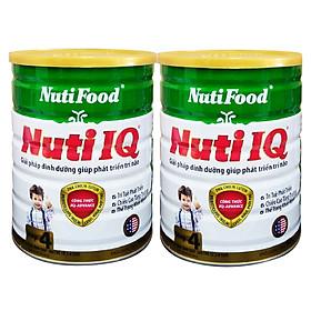 Combo 2 hộp Nuti IQ Step 4 900 gr : sữa tăng cường DHA cho trẻ 2-6 tuổi phát triển trí não, thị giác