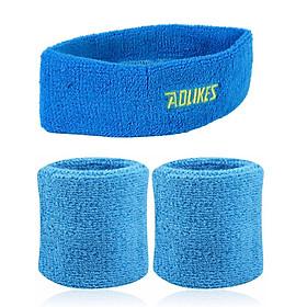 Combo 1 băng trán và 1 đôi băng cổ tay AOLIKES YE-2108-0230 thấm mồ hôi cao cấp khi chơi thể thao - Hàng Chính Hãng