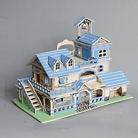 Đồ chơi lắp ráp gỗ 3D Mô hình nhà Charming Aegean Sea