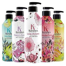Dầu xả nước hoa Kerasys Elegence & Sensual hương violet và xạ hương Hàn Quốc 600ml tặng kèm móc khoá-3