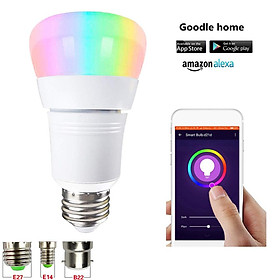 LED RGB+White Light Wifi Bulb Support for Alexa Google Home Voice Control