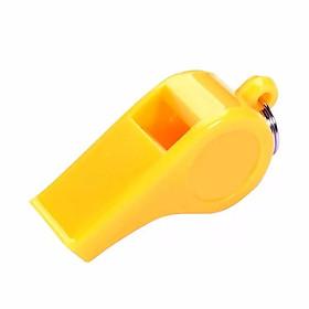 Còi nhựa thể thao màu vàng-0