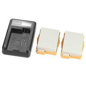 Bộ Sạc Pin Cầm Tay Andoer LP-E8 Với Pin Li-ion Cho Máy Ảnh Kỹ Thuật Số Canon EOS/550D/600D/700D/Robel/T2i/T3i/T4i/T5i (1180mAh)(2 Pin)