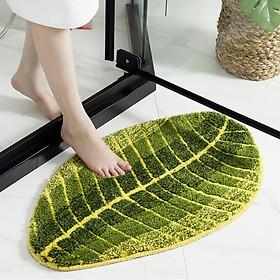 Thảm lau chân chống trượt hình chiếc lá (chùi chân) - TLC01