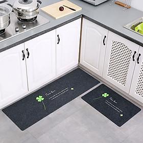 Combo 2 Thảm nhà Bếp Thảm Nhà Tắm Chống Trượt Khổ 40x120 và 40x60 cm
