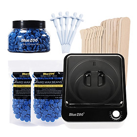 7pcs Hair Removal Wax Melt Warmer Heaters Machine Set Paraffin Wax Beans Depilation Machine Wood Stickers Hair Removal