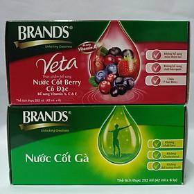 Combo hộp nước cốt Berry cô đặc Brand's Veta & và nước cốt gà Brand's (42ml/hũ)
