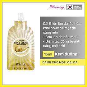 Kem dưỡng ẩm ngừa vết nhăn, chiết xuất dịch nhầy ốc sên Beausta Golden Snail Cream15ml