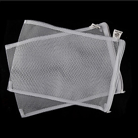 Bộ 2 Túi Đựng Vật Liệu Lọc 37x29cm dùng trong các hệ thống lọc bể cá koi, máy lọc nước hồ cá, bể cá cảnh (Trắng)