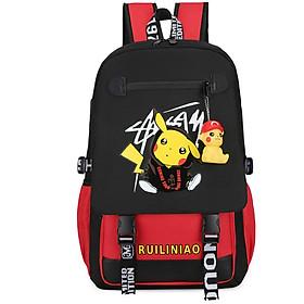 Balo nam nữ đi học thời trang Ohazo! Hình Pikachu siêu Cute - Sẵn cáp USB tiện lợi & Tặng kèm móc khóa Pikachu - BL140