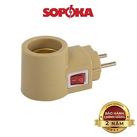 Đui đèn liền phích SOPOKA ĐLP123 có công tắc tiện lợi, an toàn