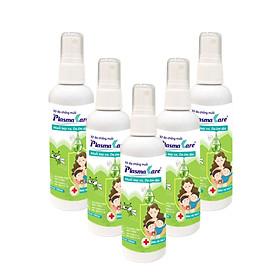 Combo 5 Xịt chống muỗi cho bé PlasmaKare Đánh bay Muỗi truyền sốt XH, bảo vệ Hô hấp
