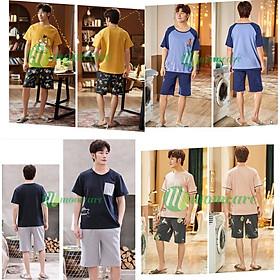 Bộ đồ ngủ nam Style Hàn Quốc xịn xò - Quần áo thời trang mặc nhà nam chất Đẹp