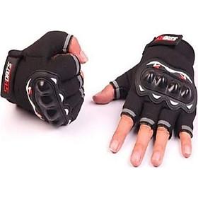 Găng tay/ bao tay hở ngón chuyên phượt sport có gù - giao màu ngẫu nhiên