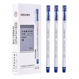 Bút Bi Gel Deli 6600 0,5MM - Màu xanh (hộp 12 cây)
