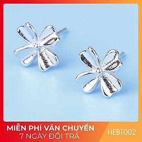 Bông hoa tai nữ bạc s925 cao cấp HEBT002 BH trọn đời