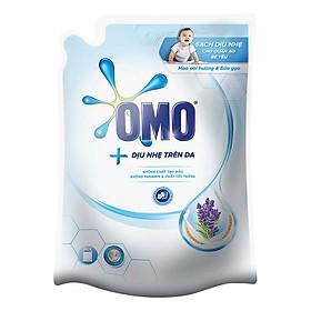 Nước Giặt OMO Dịu Nhẹ Hoa Oải Hương Và Sữa Gạo Cho Máy Giặt Cửa Trên (2.3Kg/Túi)