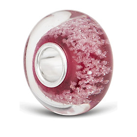 Hình đại diện sản phẩm Hạt charm DIY PNJSilver hình dẹt tròn màu hồng 0000K060201-BO