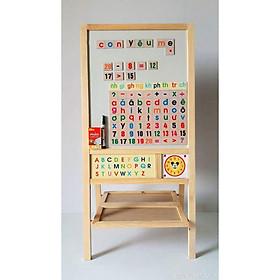 Bảng học thông minh 2 mặt bằng gỗ cao cấp Gnu Kids