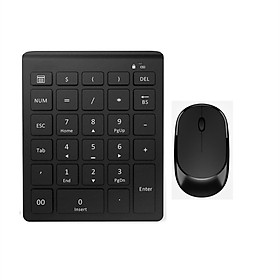2.4G Wireless Numeric Keyboard USB Wireless Silent Mouse Set
