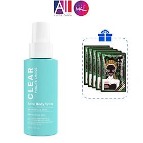 Xịt mụn dành cho cơ thể Paula's Choice clear acne body spray 118ml TẶNG 5 mặt nạ Sexylook (Nhập khẩu)