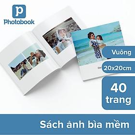 """[E-voucher] Album in ảnh theo yêu cầu bìa mềm 40 trang 8"""" x 8"""" (20 x 20cm) - Thiết kế trên web Photobook"""