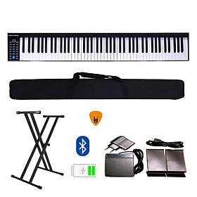 Đàn Piano Điện Konix PH88 - Đàn, Chân, Bao, Nguồn 88 Phím nặng Cảm ứng lực PH-88 - Midi Keyboard Controllers - Kèm Móng Gẩy DreamMaker (Kết nối máy tính và điện thoại, Bluetooth, Pin sạc, Loa lớn)