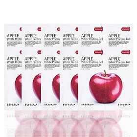 Combo 10 gói tẩy da chết sáng da sạch mụn Apple White Peeling Gel minisize