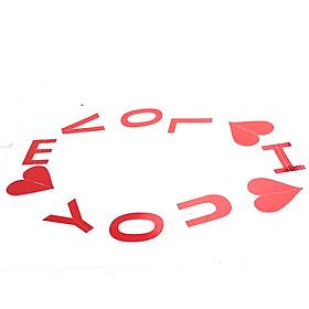 Banner Giấy Chữ I Love You Trang Trí Bong Bóng