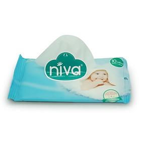 Combo 03 gói khăn ướt Niva 10 miếng tặng 01 gói khăn ướt Niva 10 miếng-4