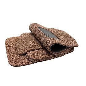 Bộ thảm lót sàn xe dấu bụi siêu sạch 5 miếng cho xe ô tô 4-5 chỗ (Nâu)