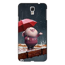Hình đại diện sản phẩm Ốp lưng nhựa cứng nhám dành cho Samsung Galaxy Note 3 Neo in hình Heo Tắm Mưa