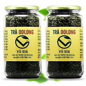 Combo 2 Trà Oolong Nguyên Chất Vũ Gia (400gr/hũ) - Nguyên liệu nấu trà sữa trân châu thơm ngon tại nhà, giảm cân an toàn.