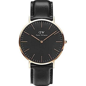 Daniel Wellington Classic Sheffield Rose Gold Watch, 40mm, Leather, for Men and Women