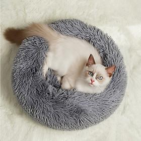 Con Chó Giường Thú Cưng Cũi Vòng Mèo Mùa Đông Nhà Cho Cún Ấm Áp Túi Ngủ Nhung Lông Sợi Dài Cưng Siêu Mềm Giường Thú Cưng Đệm Cho Cún Mat