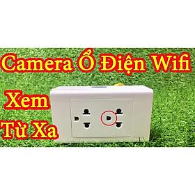 Ổ cắm điện 220V trắng - Camera WiFi ổ cắm điện 4K FullHD 1080P giám sát