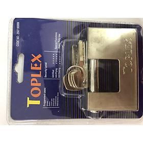Ổ khóa Toplex ngang, chống cắt, lõi đồng, 4 chìa vi tính, lõi đồng, không rỉ sét, dùng để khóa cửa trong nhà và ngoài trời
