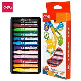 Bút sáp dầu Deli - Hộp giấy 12 màu/18 màu/24 màu - 1 Hộp - EC20100/EC20110/EC20120